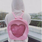 Kawaii Clothing Ropa Cute Bag Backpack Heart Harajuku Pink Transparent Clear Emo