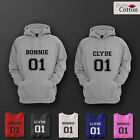 Bonnie & Clyde Top Quality Couple's Hoodies Hoods Jumper ALL COLOURS AND SIZES