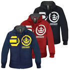 Crosshatch Pasadeno Mens Borg Lined Hoodie New Zip Up Fleece Hooded Jacket Top