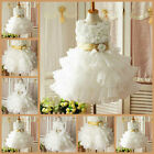 Gold Communion Christening Event Bridesmaid Flower Girls Dresses SIZE 2,4,6,8,9Y