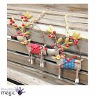 Gisela Graham Metal Reindeer Rudolph Hanging Christmas Tree Decoration Ornament