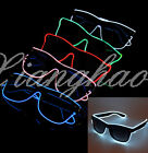 El Wire Neon LED Light Up Shutter Shaped Glasses for Chirismas Costume Party