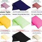 UK NEW - Single & Pair Of Plain Dyed Standard Pillow case/cover