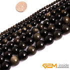 "Natural Stone Golden Obsidian Round Beads For Jewelry Making 15"" 6mm 8mm 10mm"