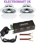BLUETOOTH 4.0 STEREO AUDIO AMP AMPLIFIER 2 X 15W RMS & 2 X 80W CEILING SPEAKERS