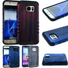 Brushed Bass Wood Phone Cover for Samsung Galaxy S7 EDGE Case Hybrid Dual Layer