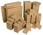 Wholesale lot of 25-50-100 pcs Cotton Filled Kraft Ring, Earring, Bracelet Boxes
