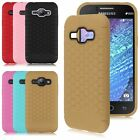 Slim Soft Honeycomb TPU Silicone Rubber Phone Case Cover For Samsung Galaxy J1