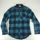 Krew Hobbs Long Sleeve Quilted Reversible Overshirt Checkered Shirt Teal size L