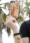 Natural Wood Case. iPhone Case. Samsung Galaxy Case. Cherry Wood. Cali Girl