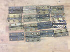 "16 Reclaimed Brass 2 1/2"" Hinges for furniture, cabinet making etc"
