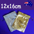 BEST Value 100 Jewellery Gift Pouch Bag-Gold or Silver-12x16cm   AUSSIE Seller