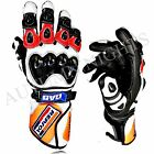 UK-Honda Repsol Motorbike Racing Leather Gloves Available -All Sizes MotoGP PRO