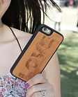 Natural Wood Case. iPhone Case. Samsung Galaxy Case. Cherry Wood. LOVE