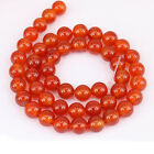 1Bunch Translucent Red Agate Round Loose Bead Pendant Necklace Jewelry Gifts