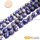 "Natural Sodalite Gemstone Round Beads For Jewelry Making 15"" 6mm 8mm 10mm 12mm"