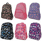 Hi-Tec Girls English Rose/Hearts Backpack Rucksack School/College Travel Bag