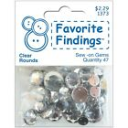 Favourite Findings Sew-On Round Gems. Brand New