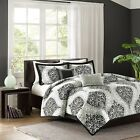 Black and Grey Senna Comforter Set Includes Pillows & Shams