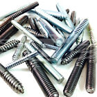 "WOOD TO METAL DOWELS  M5, M6, M8, M10, 5/16"", FURNITURE FIXING SCREWS THREADED"