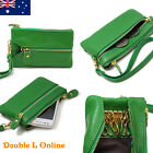 Genuine Leather Ladies Womens Purse Key Clip Clutch Wristlet Coins Small Pocket