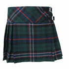 Girls Tartanista Green Scottish National Tartan Kilt Skirt Leather Straps 2 - 14