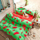 Watermelon Single Double Size Bedding Pillowcase Quilt Duvet Cover Set