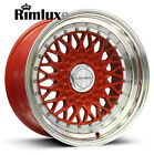 "LENSO BSX BBS RS STYLE DEEP DISH MESH 15"" 16"" 17"" 19"" ALLOY WHEELS RIMS ANY PCD"