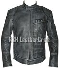 Star Wars The Force Awakens Han Solo Biker Distressed Black Cow Leather Jacket $159.95 USD