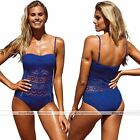 Sexy Women Borland Halter Lace Halter Lace Bathing Suit Beach Bikini Swimwear