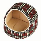 Hooded Washable Small Medium Large Cat Bed - Red Fleece