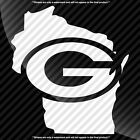 Green Bay Packers Wisconsin WI State Pride Decal Sticker - TONS OF OPTIONS $5.99 USD on eBay