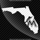 Miami Marlins Florida FL State Pride Decal Sticker - TONS OF OPTIONS on Ebay