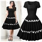 Ladies Elegant Evening Party Ball Gowns Wear Boat Neck Embroidered Layered Dress