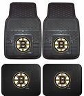 Boston Bruins Heavy Duty NHL Floor Mats 2 & 4 pc Sets for Cars Trucks & SUV's $26.85 USD on eBay