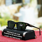 Black T.Brown Square Fashion Sunglasses Driving Style Green Lens New Mens Womens
