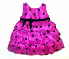 Holiday Edition Infant Girls Purple Black Polka Dots Party Dress Size 6-9M NWT