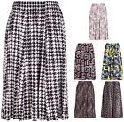 Womens Plus Size Floral Animal Print Ladies Stretch Elasticated Long Midi Skirt