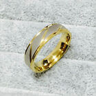 Mens silver gold wedding engagement ring band gift MANY SIZES K - Z4  new MN8
