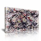 No. 34 Jackson Pollock Modern Abstract Stretched Canvas Wall Art Deco