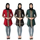 Muslim Kaftan Women Dress Long Sleeve Abaya Shirt Tops Blouse Islamic Clothes