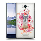 OFFICIAL MONIKA STRIGEL ANIMALS AND FLOWERS 2 HARD BACK CASE FOR SHARP PHONES