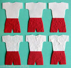 6 x Handmade Paper Football Kit Toppers - Various Colours