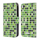 HEAD CASE DESIGNS MOSAIC TILES LEATHER BOOK WALLET CASE COVER FOR HTC DESIRE 320