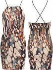 Womens Floral Mini Dress Ladies Spaghetti Strappy Sleeveless Print Bodyon Short