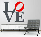 LOVE - MODERN WALL ART VINYL GRAPHICS - 3 SIZES - QUOTE DECAL MURAL