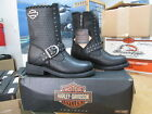 NEW Harley Davidson Womens Leather Boot Boots Shoes Medium Black Abbie