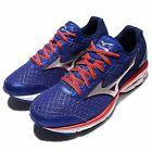 Mizuno Wave Rider 19 2E Super Wide Blue Red Black Mens Running Shoes J1GC16-0491
