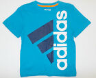Adidas Boys T-Shirt Blue and Black with Logo Size 5 NWT