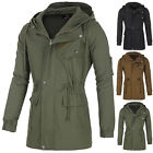 Military Stylish Mens Long Sleeve Windbreaker Coat Outwear Jacket Trench Hooded